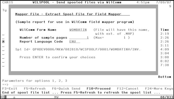 Creating a sample spool file - WilkWiki